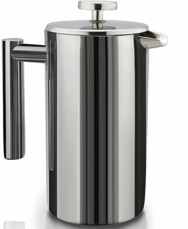 French Press Double-Wall Stainless Steel Mirror Finish (1.5L)